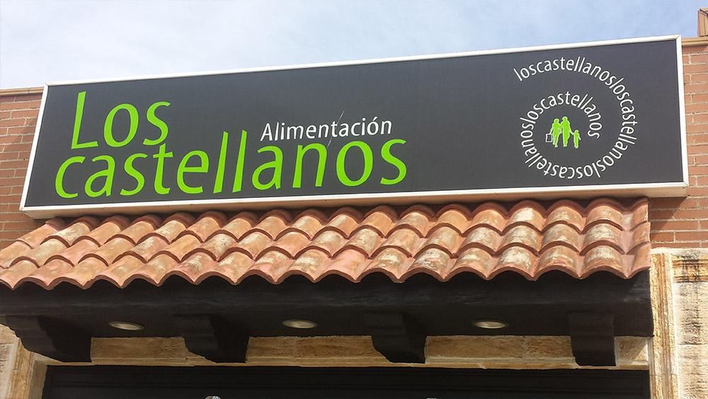 Estructura para fachada exterior en Alimentación Los Castellanos por Cerrajería Keymar